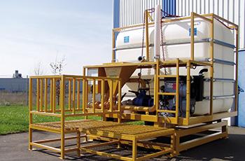 Industrietanks im Baugewerbe
